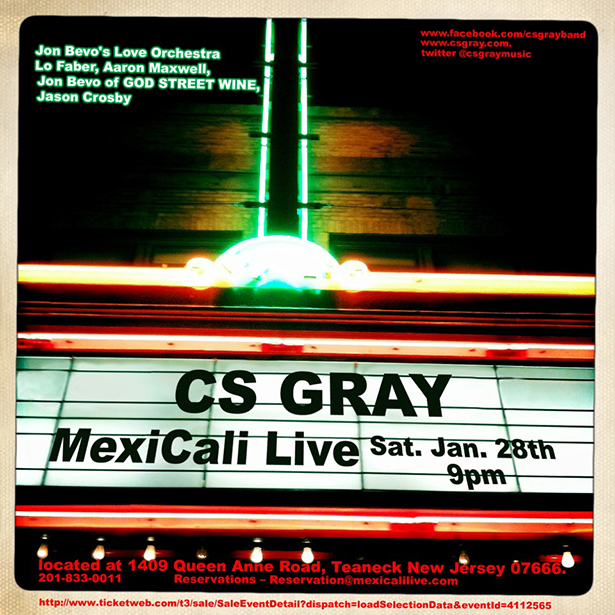 Flier for CS Gray Mexicali Show 28 Jan 2012